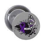 Hope Lupus Butterfly 2 Inch Round Button