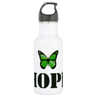 "'Hope"" Lyme Disease Awareness Butterfly Stainless Steel Water Bottle"