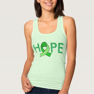 """""""HOPE"""" Lyme Disease Awareness Ribbon Tank Top"""