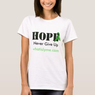 "'Hope"" Lyme Disease Awareness Shirt w Ribbon"