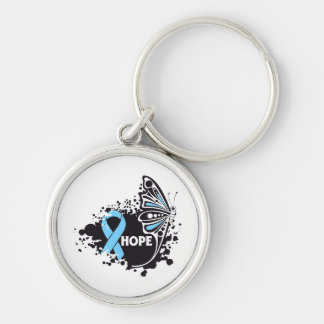 Hope Lymphedema Butterfly Keychain