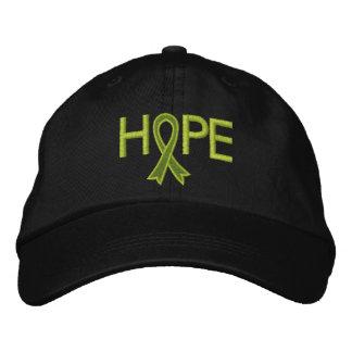 HOPE - Lymphoma Ribbon Embroidered Hats