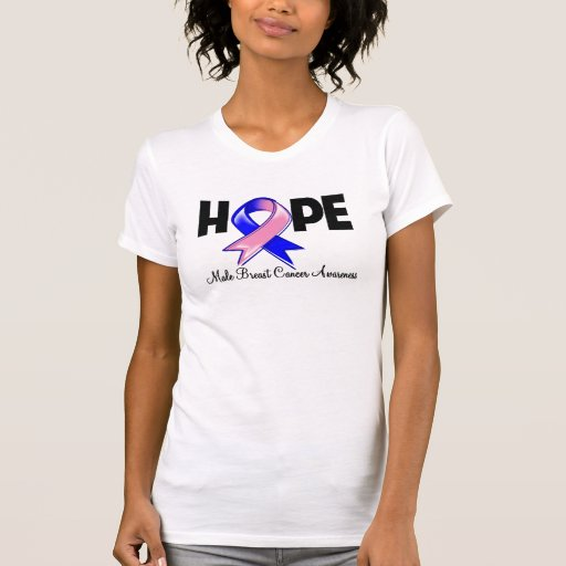 Hope Male Breast Cancer Awareness Tee Shirt