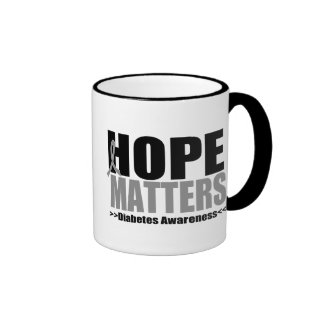 Hope Matter Diabetes Coffee Mugs