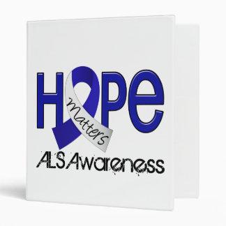 Hope Matters 2 ALS 3 Ring Binder