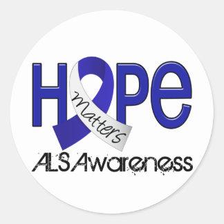 Hope Matters 2 ALS Round Stickers