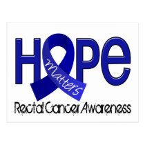Hope Matters 2 Anal / Rectal Cancer Postcard