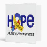 Hope Matters 2 Autism Vinyl Binders