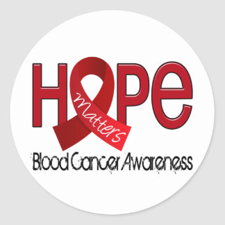 Hope Matters 2 Blood Cancer Classic Round Sticker