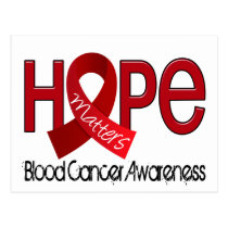 Hope Matters 2 Blood Cancer Postcard