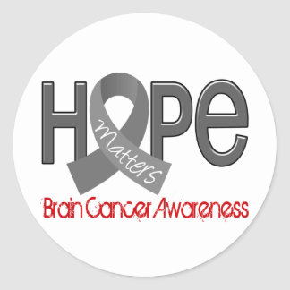 Hope Matters 2 Brain Cancer Classic Round Sticker