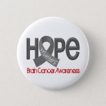 Hope Matters 2 Brain Cancer Pinback Button
