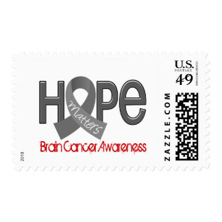 Hope Matters 2 Brain Cancer Postage Stamp