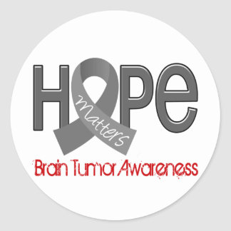 Hope Matters 2 Brain Tumor Classic Round Sticker