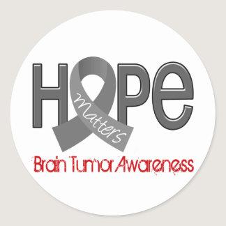 Hope Matters 2 Brain Tumor Classic Round Sticker