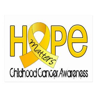 Hope Matters 2 Childhood Cancer Postcard