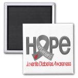 Hope Matters 2 Juvenile Diabetes 2 Inch Square Magnet