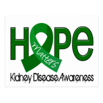 Hope Matters 2 Kidney Disease Postcard