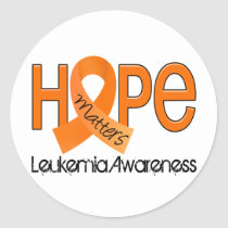 Hope Matters 2 Leukemia Classic Round Sticker