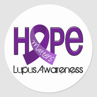Hope Matters 2 Lupus Classic Round Sticker