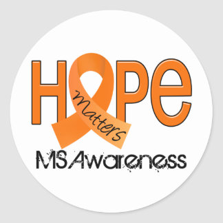 Hope Matters 2 MS Multiple Sclerosis Classic Round Sticker