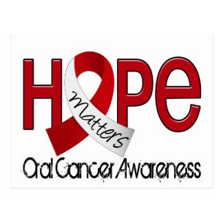 Hope Matters 2 Oral Cancer Postcard