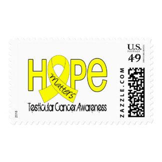 Hope Matters 2 Testicular Cancer Stamp