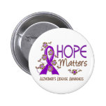 Hope Matters 3 Alzheimer's Disease Pinback Buttons