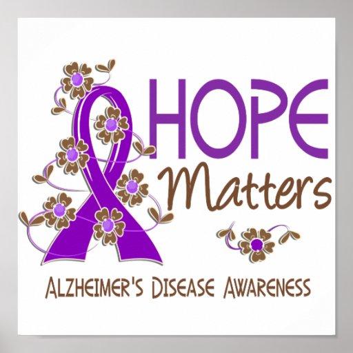 Hope Matters 3 Alzheimer's Disease Poster