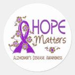 Hope Matters 3 Alzheimer's Disease Round Sticker