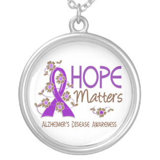 Hope Matters 3 Alzheimer's Disease Silver Plated Necklace