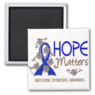 Hope Matters 3 Ankylosing Spondylitis 2 Inch Square Magnet