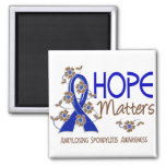 Hope Matters 3 Ankylosing Spondylitis 2 Inch Square Magnet