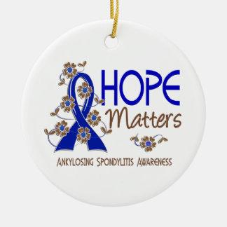Hope Matters 3 Ankylosing Spondylitis Christmas Ornament