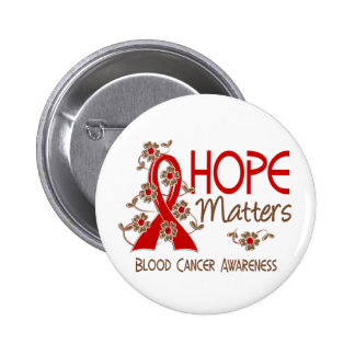 Hope Matters 3 Blood Cancer Pinback Button