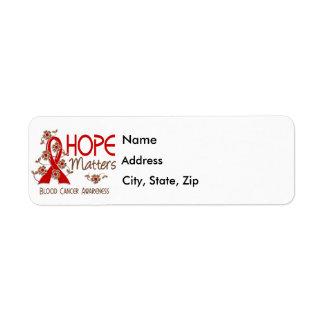 Hope Matters 3 Blood Cancer Label