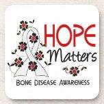 Hope Matters 3 Bone Disease Drink Coasters