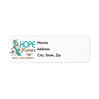 Hope Matters 3 Cervical Cancer Label