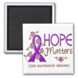Hope Matters 3 Chiari Malformation Refrigerator Magnet