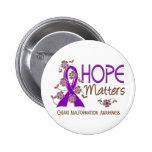 Hope Matters 3 Chiari Malformation Pinback Button