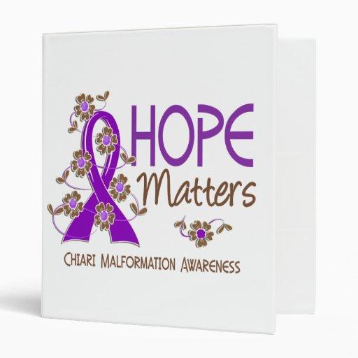 Hope Matters 3 Chiari Malformation Vinyl Binder