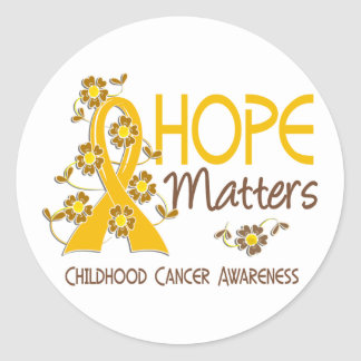Hope Matters 3 Childhood Cancer Classic Round Sticker
