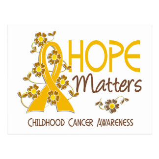 Hope Matters 3 Childhood Cancer Postcard