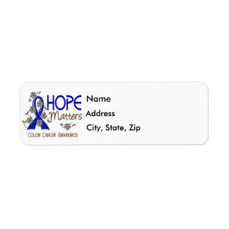 Hope Matters 3 Colon Cancer Label