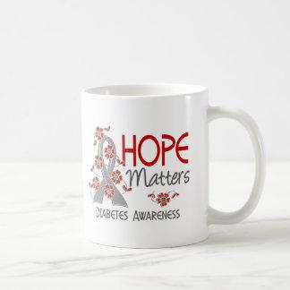 Hope Matters 3 Diabetes Classic White Coffee Mug