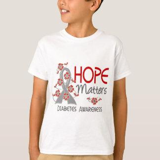 Hope Matters 3 Diabetes T-Shirt