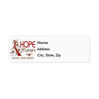 Hope Matters 3 Head Neck Cancer Label