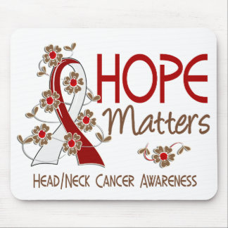 Hope Matters 3 Head Neck Cancer Mouse Pad