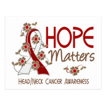 Hope Matters 3 Head Neck Cancer Postcard