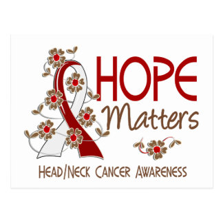 Hope Matters 3 Head Neck Cancer Postcard